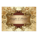 Gold & Brown Tones Vintage Elegant Swirls 2 Business Card
