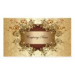 Gold & Brown Tones Vintage Elegant Swirls Business Card