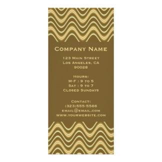 gold brown wave rack cards