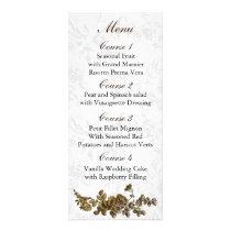 """""""gold brown"""" Wedding menu"""