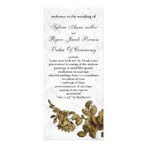 """gold brown"" Wedding program"