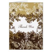"""gold brown"" wedding ThankYou Cards"