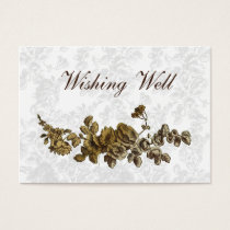 """""""gold brown"""" wishing well cards"""