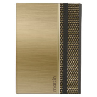 Gold Brushed Aluminum With Metallic Mash iPad Air Cover
