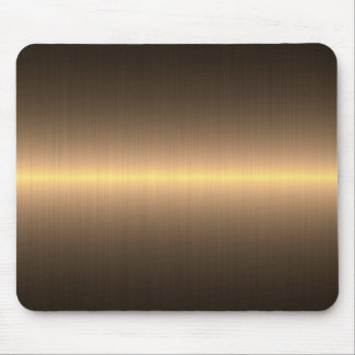 gold brushed metal mouse pad
