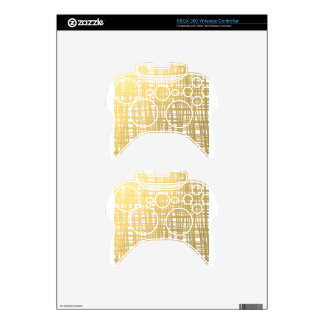 Gold Brushstroke Watercolor Stripes Xbox 360 Controller Decal