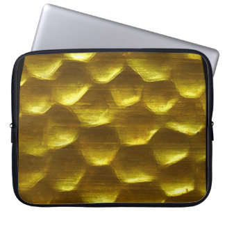gold bubble computer sleeve