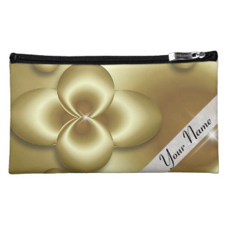 gold bubbles cosmetic bag