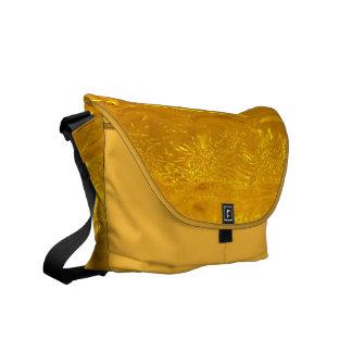 Gold Bubbles Messenger Bag