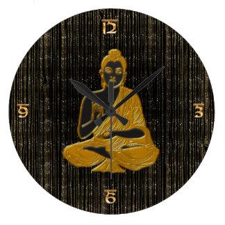gold Buddha Wallclock