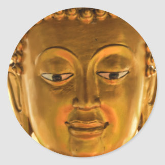 Gold Buddha Head Sticker