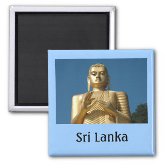 Gold Buddha Image 2 Inch Square Magnet