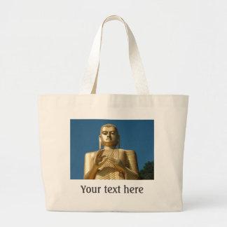 Gold Buddha Image Jumbo Tote Bag