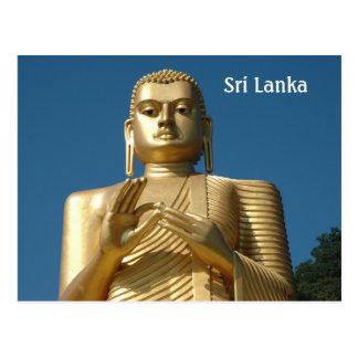 Gold Buddha Image Postcard