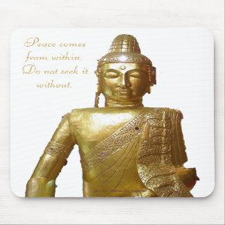 Gold Buddha Motivational Peace Quotation Mousepads