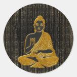 gold Buddha Round Stickers