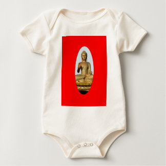 Gold Buddha & Sacred Red by SHARLES Baby Bodysuit