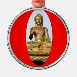 Gold Buddha & Sacred Red by SHARLES Metal Ornament