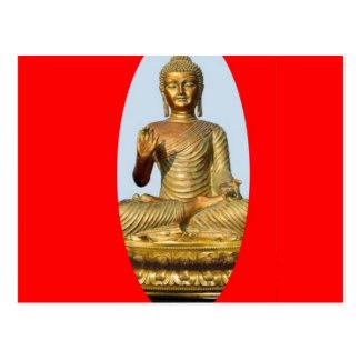Gold Buddha & Sacred Red by SHARLES Postcard
