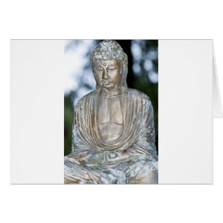 Gold Buddha Statue Greeting Card