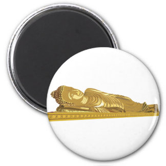 Gold Buddha Statue Laying Down Magnet