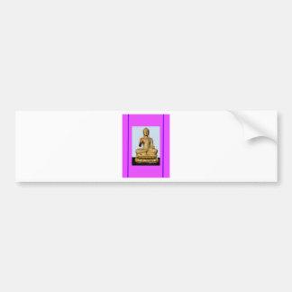 Gold Buddha Statue on Violet Bumper Sticker