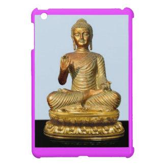 Gold Buddha Statue on Violet iPad Mini Covers