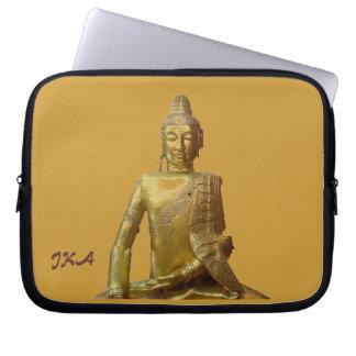Gold Buddha with Monogram Electronics Bag Laptop Sleeves
