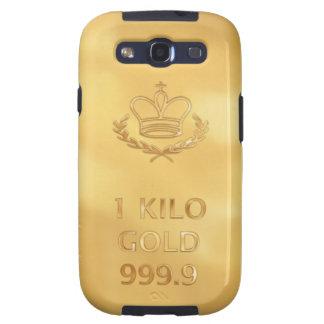 Gold Bullion Bar Print Samsung Galaxy S3 Covers