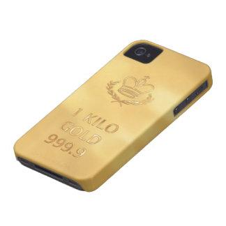 Gold Bullion Bar Print iPhone 4 Case-Mate Case