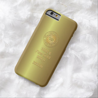 Gold Bullion Golden Style Barely There iPhone 6 Case