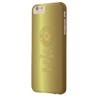 Gold Bullion Golden Style Barely There iPhone 6 Plus Case