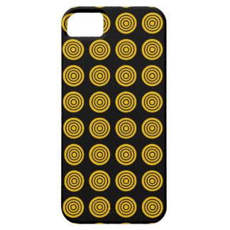 Gold Bullseye Black iPhone Case