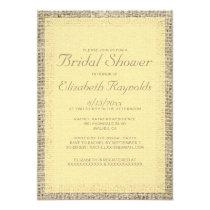 Gold Burlap Bridal Shower Invitations Personalized Invitation