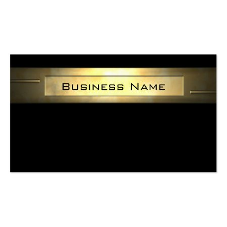 Elegant Gold Plate Accountant Business Cards