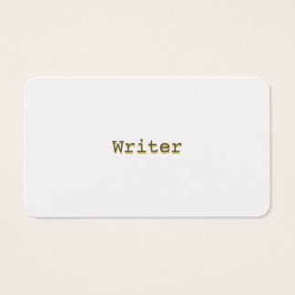 Gold Business Cards Minimalist Raised Look Writer