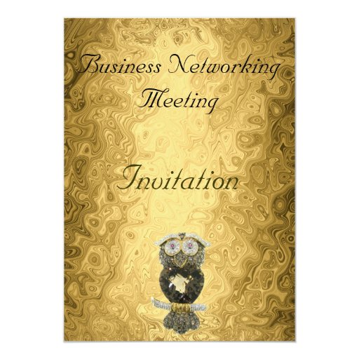 Gold Business Meeting Invitation Change Logo