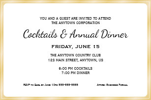business dinner invitations zazzle