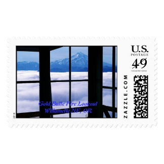 Gold Butte Fire Lookout Willamette National Forest Postage