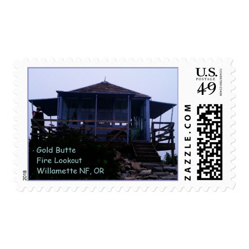 Gold Butte Fire Lookout Willamette National Forest Stamp