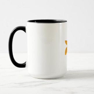 Gold Butterfly Koi Swimming Drawing Mug