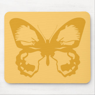 Gold Butterfly Mouse Pad