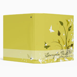 Gold Butterfly Nature 3 Ring Binder