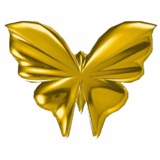 Gold Butterfly Photo Cutout