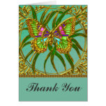 Gold Butterfly Wedding Thank You Card