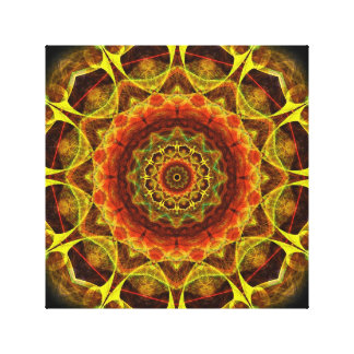 Gold Button Mandala Canvas Prints