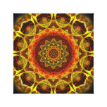 Gold Button Mandala Canvas Print