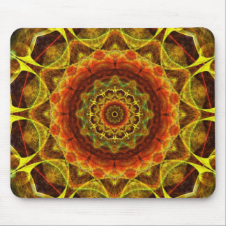 Gold Button Mandala Mouse Pad