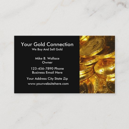 Gold Buying Selling Business Cards Zazzle