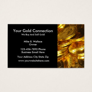 Gold Buying Selling Business Cards